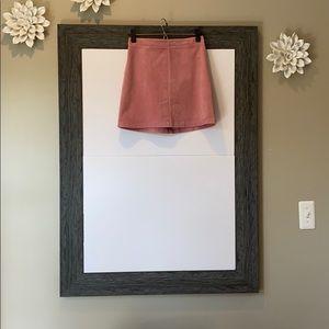 Pink Corduroy women's skirt